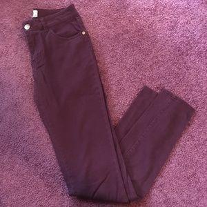 Cotton on Maroon/burgundy jeans